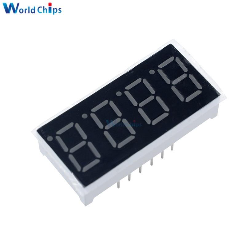 10PCS 0.36 Inch 4bit Common Cathode Digital Tube Red Digit LED Digit Display 7 Seg Segment 0.36 Inch 0.36'' 0.56in. 4 Four Bit