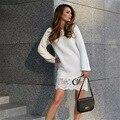 Весна Платья Новое Прибытие 2017 Европа И Америка Мода Женская Одежда Повседневная С Длинным Рукавом Кружева Лоскутное Slim Dress Vestidos