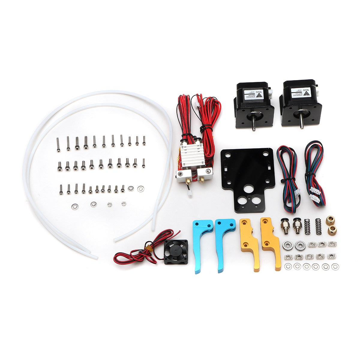 New Arrival TEVO Tarantula Dual Extruder Upgrade Kits For 3D Printer With Cooling Fan and Nema17 Stepper Motor 2017 newest tevo tarantula 3d printer impresora 3d diy impressora 3d with filament micro sd card titan extruder i3 3d printer