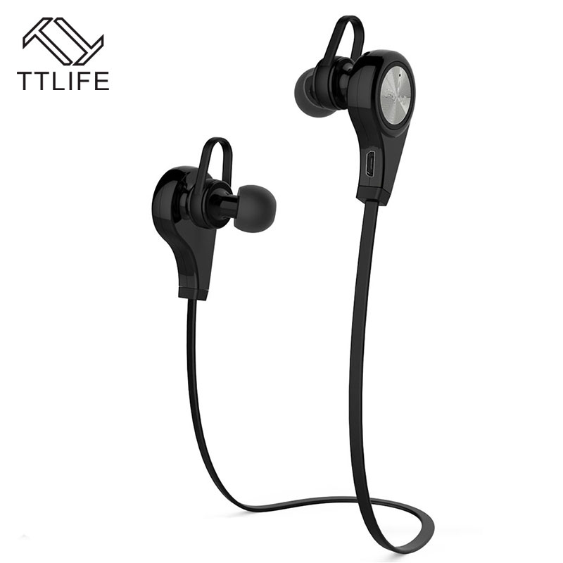 TTLIFE Bluetooth 4.1 Sports CSR HiFi Earphone Wireless Music Stereo Earbuds Hands Free Headset with Mic for iPhone Xiaomi ttlife bluetooth earphone