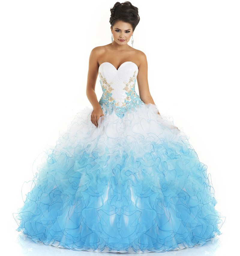Light Blue And White Quinceanera Dresses | www.imgkid.com ...