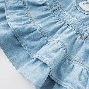 Image 5 - dave bella spring infant baby girls denim dress fashion strap dress birthday suspenders dress toddler children clothes