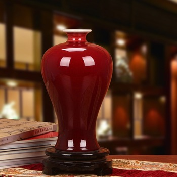 Jingdezhen ceramics color glaze vase of modern Chinese Home Furnishing Lang plum bottle craft ornaments factory wholesale