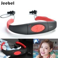 Jeebel Swimming Headphone Underwater MP3 4G IPX8 Music Player Sports Neckband Diving FM Radio Earphone Stereo Audio Headphone