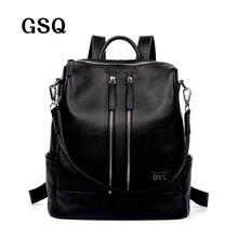 GSQ Fashion Echtes Leder Frauen Rucksack Heiße Hohe Qualität Berühmte Marke Adrette String Frauen Schultasche Mädchen Reisetaschen