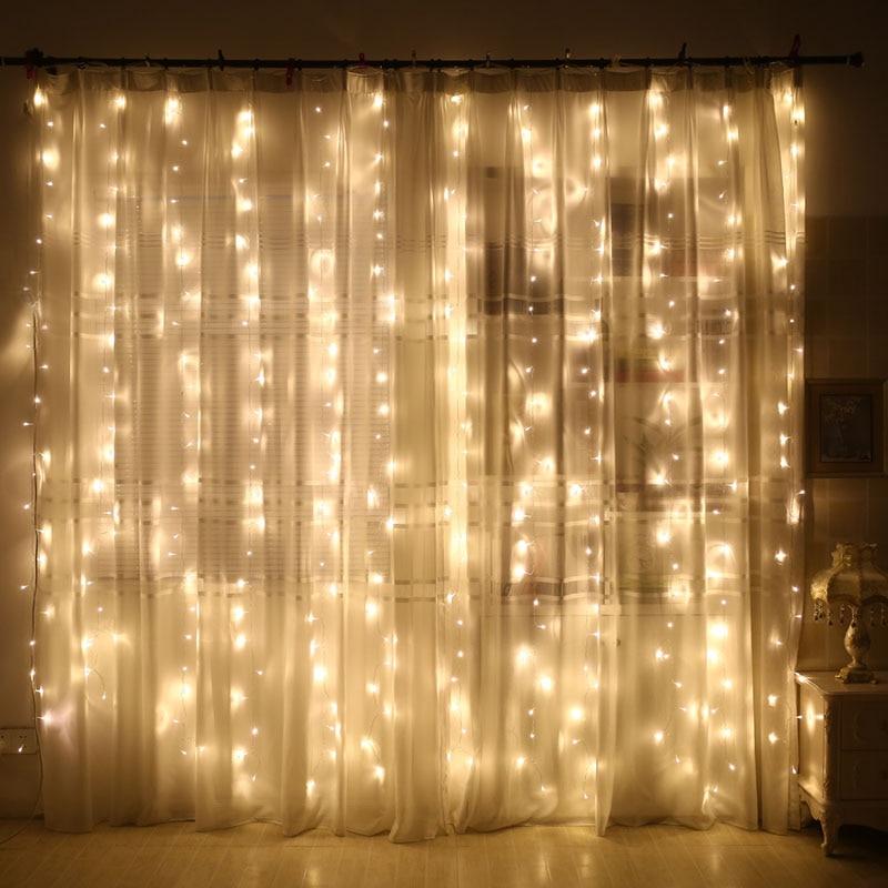 SVELTA 6x3m 600 전구 LED icicle 문자열 요정 빛 야외 - 휴일 조명 - 사진 4