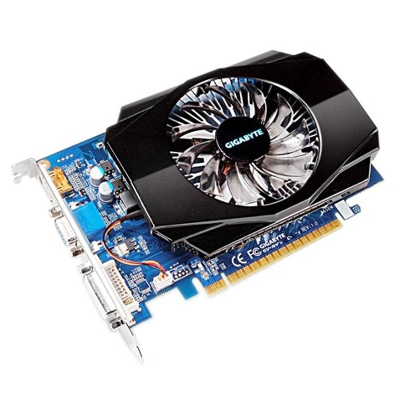 Carte graphique GIGABYTE GT 730 2 GB originale 128Bit GDDR3 GT730 cartes vidéo pour carte vidéo nVIDIA Geforce D3 HDMI Dvi VGA N730 - 2