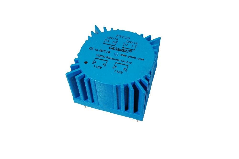 6 VA Isolation Transformateur 200 mA PCB 2 x 15 V 2 x 115 V