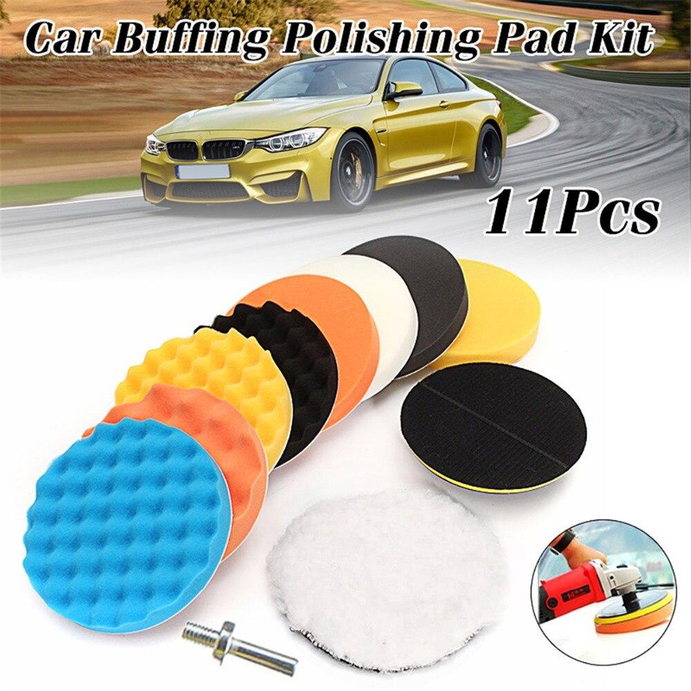 11 stücke 7 zoll Polieren Waxing Polieren Schwamm Pads Set + M14 Gewinde Für Auto Polierer