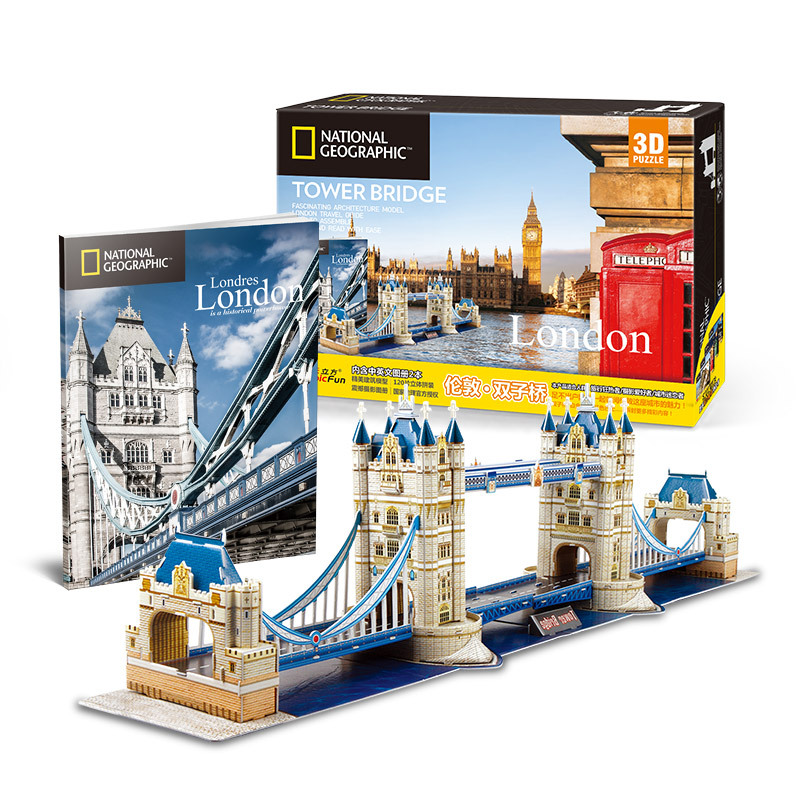 Classic 3D Jigsaw Puzzle City Tower Bridge Of London England Thames Puzzle Brick Toys Scale Style Models Sets World Building