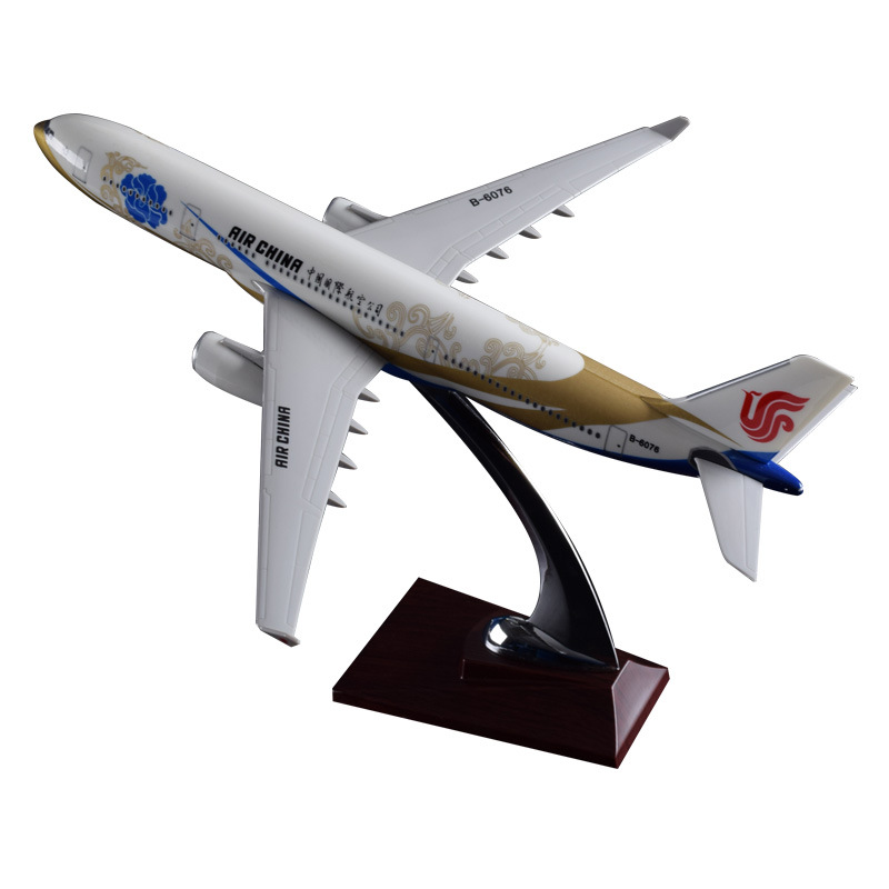 32cm A330 Zichen Airbus Model Air China Airlines Golden Chen Decoration Craft Airplane Model Chinese Resin Aircraft Airway Model