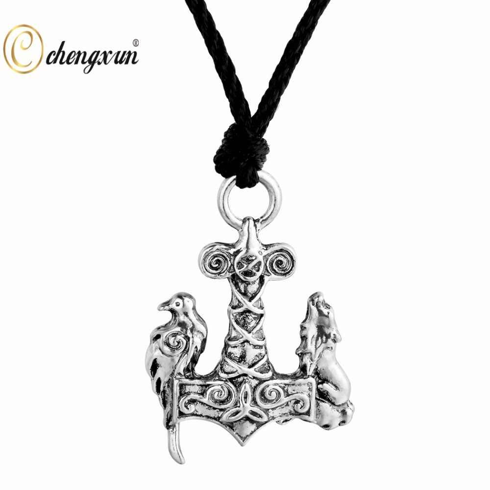 CHENGXUN gótico Punk pájaro Animal COLLAR COLGANTE Norse Viking amuleto collar Slavic hombres chicos joyería Cadena de cuero