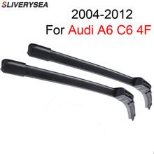 SLIVERYSEA Windscreen Wiper For Audi A6 C6 4F 2004 2005 2006 2007 2008 2009 2010 2011 2012 Natural Rubber Auto Car Accessories