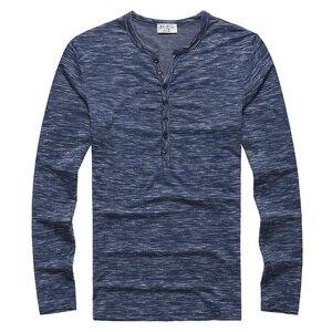 Image 5 - Nueva camiseta Henley para hombre, nueva camiseta, Tops de manga larga, camiseta ajustada elegante, con botones, informal, diseño Popular para hombre