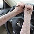 Primavera verano atutumn mujeres luvas protección UV largos de la pantalla táctil Opera brazo del cordón de conducción vestidor guantes sin dedos guantes