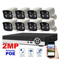 8CH NVR 1080P POE KIT Network Video Recorder H 264 P2P Cloud Phone Control Motion Detection