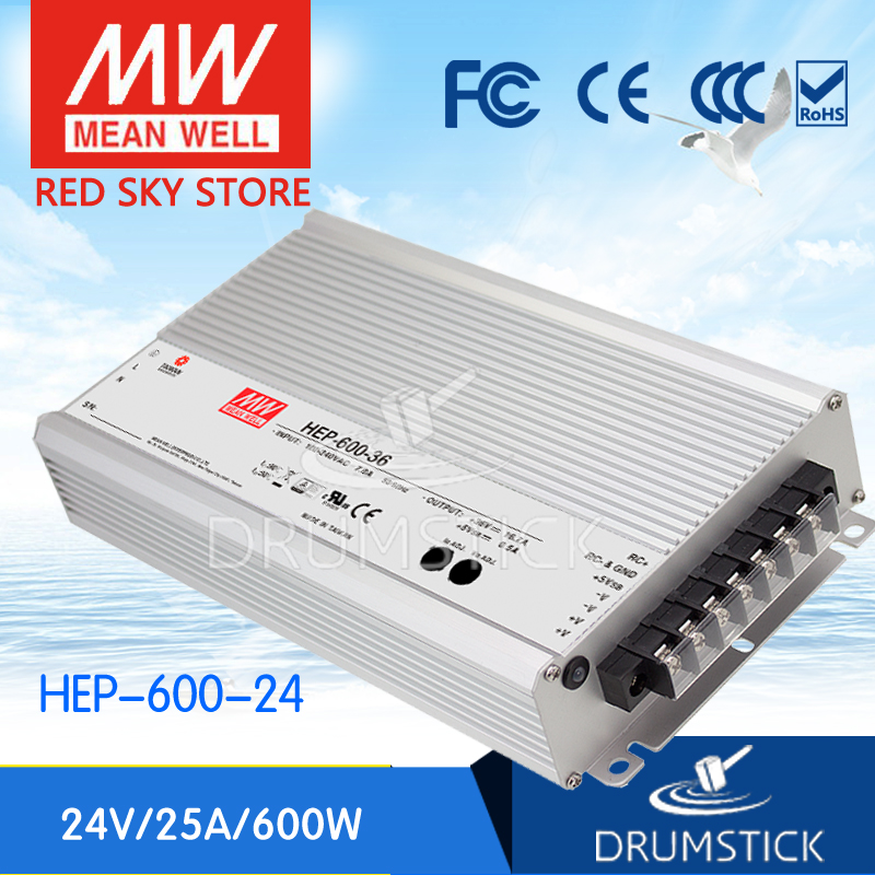 hot-selling MEAN WELL HEP-600-24 24V 25A meanwell HEP-600 24V 600W Single Output Switching Power Supply [Real6] mean well original hep 100 24 24v 4a meanwell hep 100 24v 96w single output switching power supply