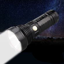 Diving Flashlight IPX6 5 mode T40 LED Tactical Stepless Dimming Torch Recharge Flashlight + 3IN1 18650 battery