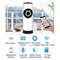 Wireless Electronic Baby Monitor WiFi IP Camera Nanny Video Babysitter With Motion Detection Intercom 180 Panoramic Camera