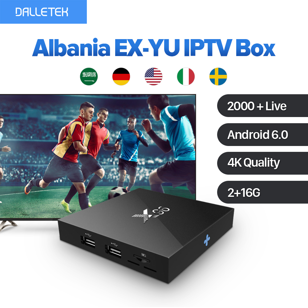 4K Movie Albania EX-YU Sports IPTV X96 Android 6.0 Smart TV Box IUDTV Subscription QHDTV Code PK X92 Arab Europe IPTV Top Box movie iptv