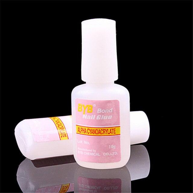 100pcs/lot Nail Art Glue Tips Glitter UV Acrylic Rhinestones ...