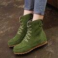 2016 novos outono e inverno sapatos altura-aumento Martin botas femininas sapatos casuais lace-up botas das senhoras das mulheres DT556