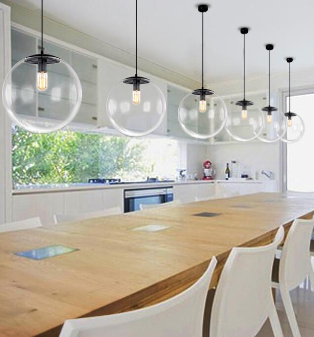 ФОТО Modern Simple Restaurant Pendant Light Northern Europe Glass Round Ball Creative Personality Bedroom Pendant Lamp Free Shipping