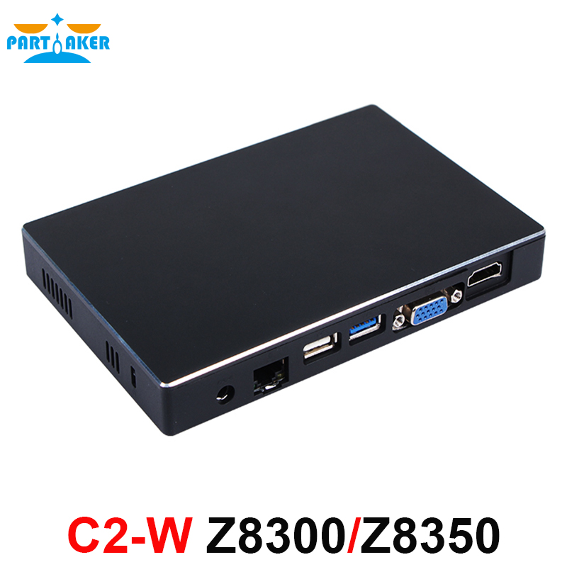 Partaker C2-W Mini PC Windows 10 Ubuntu OS Intel Z8300 Z8350 CPU Intel HD Graphics 2GB RAM 32G SSD WiFi BT4.0