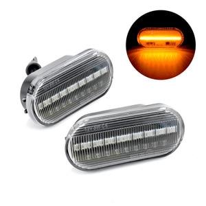 Image 5 - Flowing Water Car Side Marker Light Blinker Amber Smoke LED Dynamic Turn Signal Lamp for VW Bora Golf 3 4 Passat 3BG Polo SB6