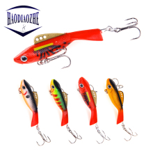 Купить с кэшбэком Winter Ice Fishing Lure 7.5cm 12g 18g Artificial VIB Lures Wobblers Crankbait Vibration Hard Bait Fishing Accessories Pesca