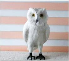 WYZHY Simulation owl props animal feathers garden home decoration 28CM