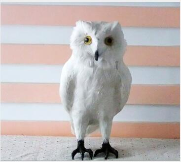 WYZHY  Simulation owl props animal feathers garden home decoration  28CMWYZHY  Simulation owl props animal feathers garden home decoration  28CM
