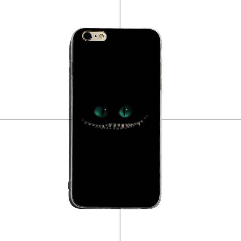 Yinuoda أليس في بلاد العجائب شيشاير القط الفاخرة TPU المطاط غطاء إطار هاتف محمول ل فون 6 زائد 6 ثانية 7 زائد 8 زائد X XS XR كوكه شل