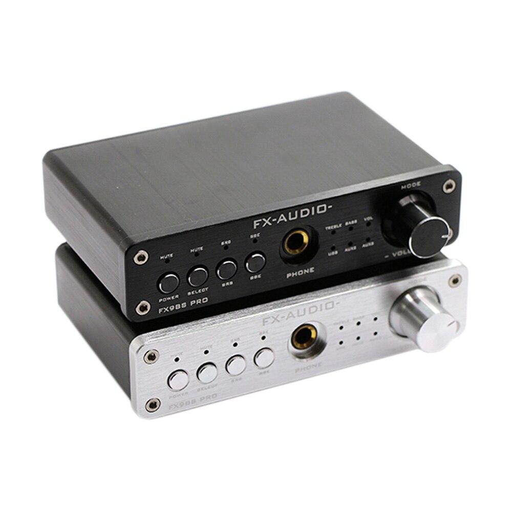 FX-Audio FX-98S Upgraded Version Of USB Audio Processor Decoding DAC PCM2704 MAX9722 Pre-Amp JAC NJW1144 Headphone Amplifier fx audio fx98s pro desktop dac audio subwoofer amplifier usb dac pcm2704 max9722 amplifiers hifi power amplifier