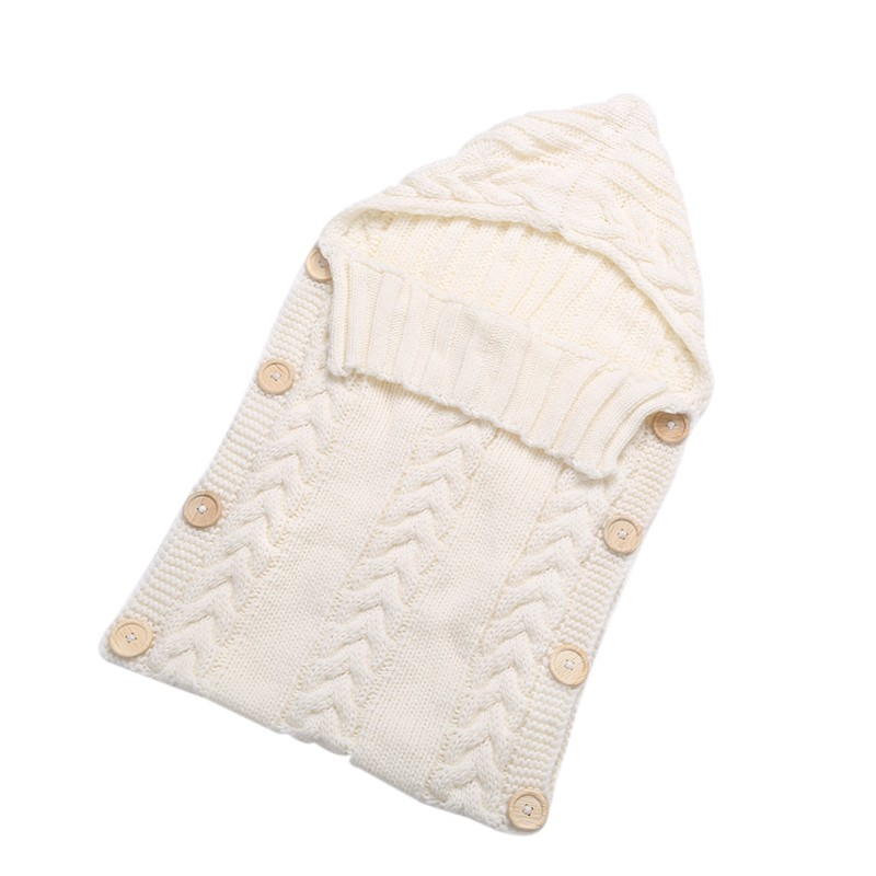 122ded742 Newborn Baby Wrap Swaddle Blanket 0-12 Months Kids Toddler Wool Knit ...