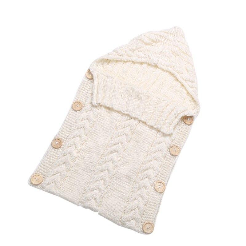 Для новорожденных Обёрточная бумага для пеленания Одеяло 0-12 месяцев дети шерстяная одежда для малышей вязать Одеяло пеленать ребенка спальный мешок сна мешок коляска обёрточная бумага