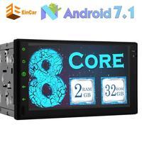 7 Inch Eight Core Android 7 1 HD Car Audio 2DIN Sprint GPS Navigator Bluetooth Head