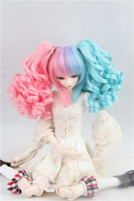 doll wig for BJD/SD 1/3 1/4 1/6 Scale BJD wig.variety of colors .A15A1078.only sell wig.Not included doll clothes accessories