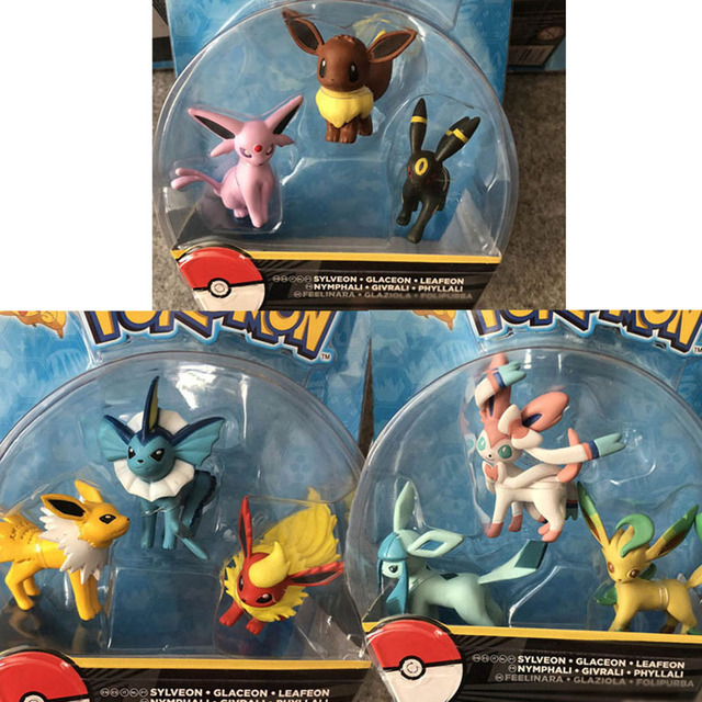 TAKARA TOMY Cartoon Eevees Action & Toys Figure Model Collection Toys for Children Anime Figures Gifts