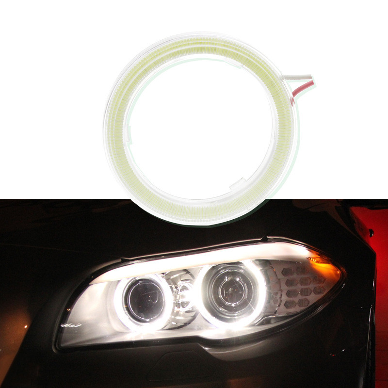 Hiyork 1PC Car Angel Eyes Led Car Halo Ring Headlight DRL Daytime Running Light For Car Auto Moto Motorcycle 12V Car Accessories