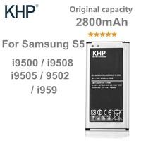 100 Original Brand KHP Phone Battery For Samsung Galaxy S5 G900S G900F G9008V G9006V NFC Built