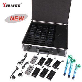 YARMEE YT100 Updated Version Wireless Museum Tour Guide System  for Tour guide , Museum  2 Transmitters 38 receivers YT200