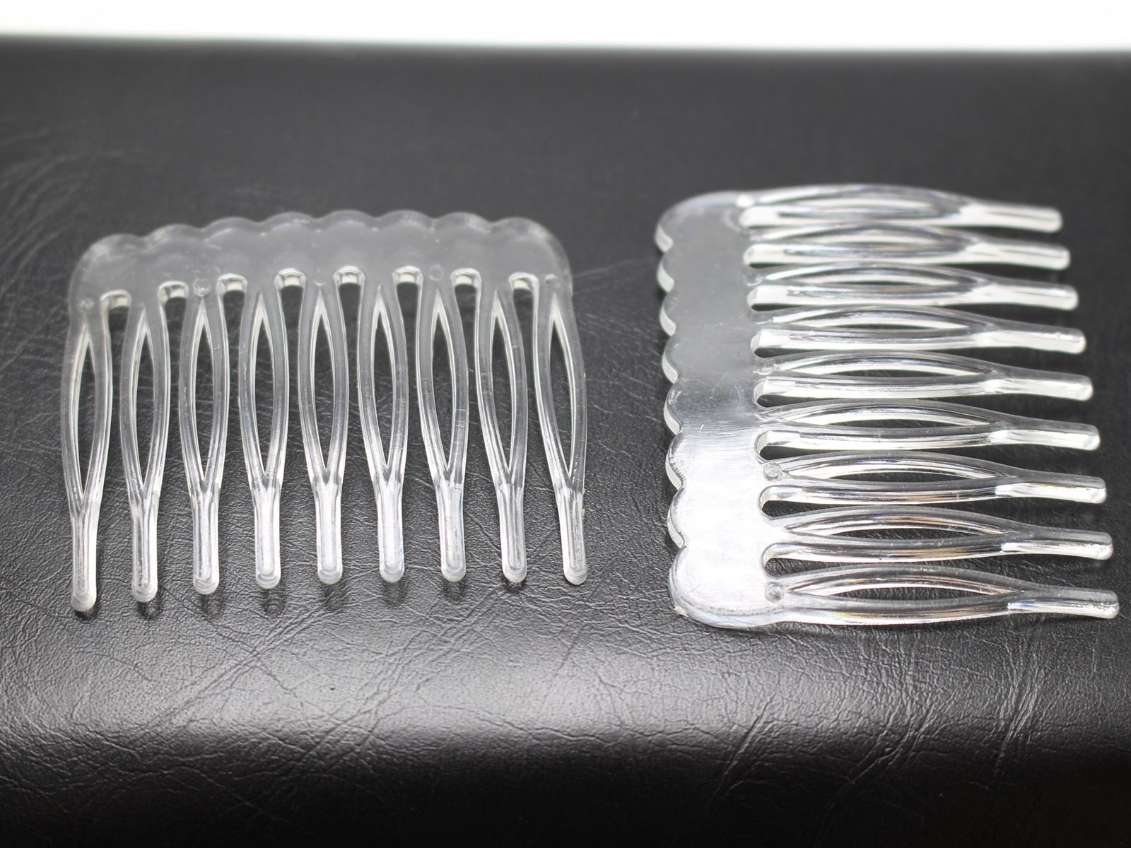 50 Clear Plastic Smooth Hair Clips Side Combs Pin Magic Grip Hair Pin 46mm