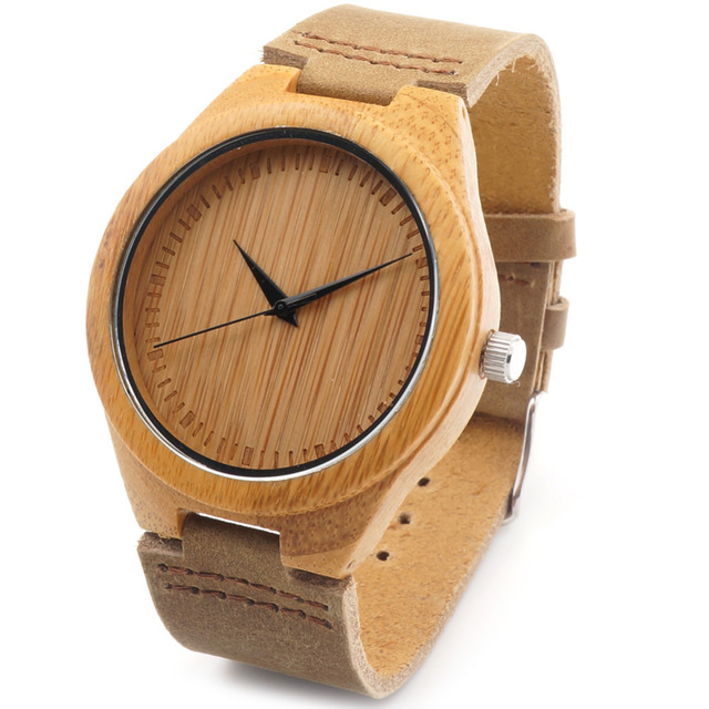 BOBO BIRD F18 Lovers' Vintage Design Brand Luxury Wooden Bamboo Watches With Real Leather Quartz Watch in Gift Box