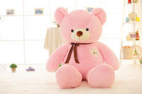 140 cm teddy bear doll Stuffed Toys for girls valentine's day present 55 inch kawaii plush toys Christmas pillow New Year's toys