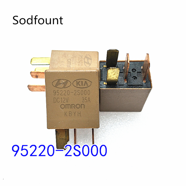 1PC Car Violet Relay for KIA 12V 35A OMRON 4 Pins Gold Color Power Relay Assembly