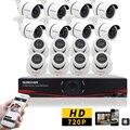 Sunchan 16CH 720 P vídeo HVR NVR sistema de cftv de vigilância AHD DVR Kit com 16 pcs / exterior 720 P câmeras de segurança em Kits cameras de segurança vigilancia kit cftv   cameras de segurança kit