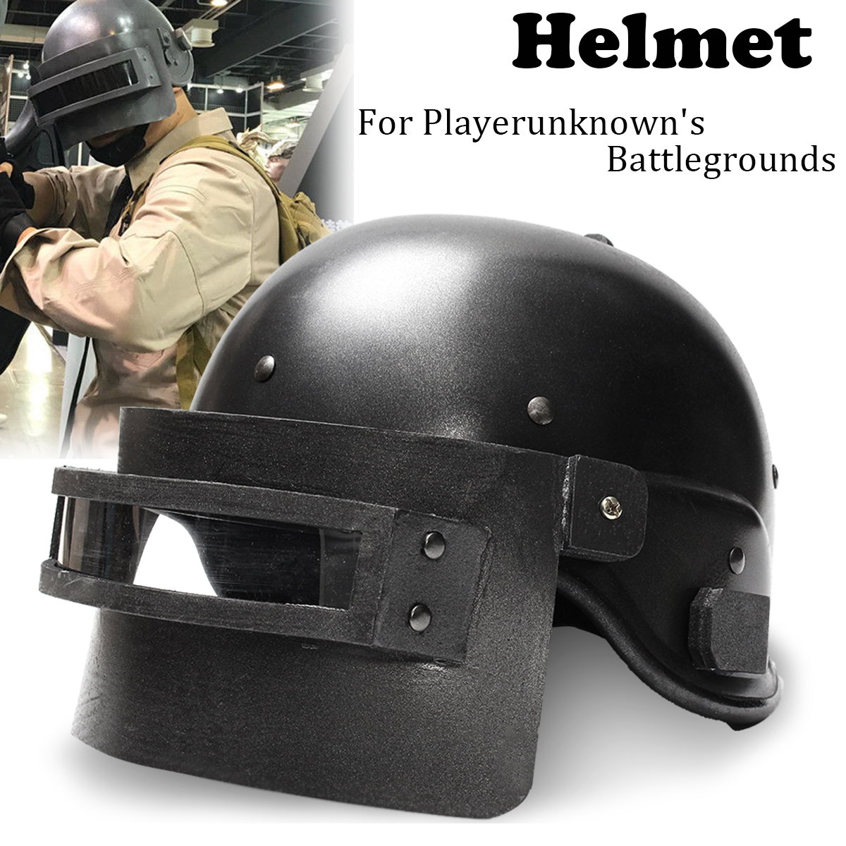 Cosplay Helmet Game for Playerunknown's Battlegrounds Level 3 Safety Helmets Cap Head Protection Mask pair of chic faux pearl hollow out earrings for women