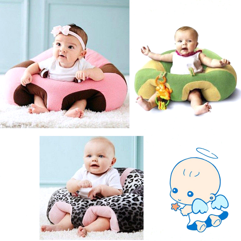 Kids Baby Support Seat Cover Cradle Sofa Chair Kid Plush Chair Learning To Sit Comfortable Soft Toddler Cartoon Toy Bean Bag