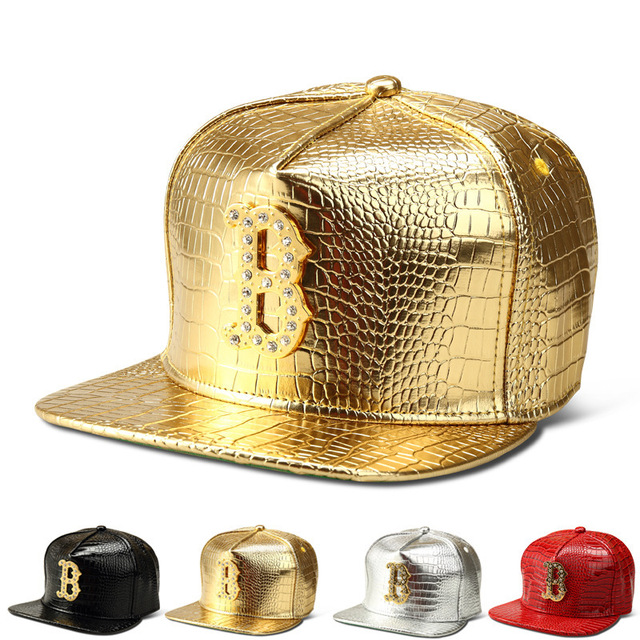47b4f99f2476b 2015 New fashion Boston Red Sox bone snapback caps gorras Rhinestone punk  style men and women baseball cap gold fitted hats